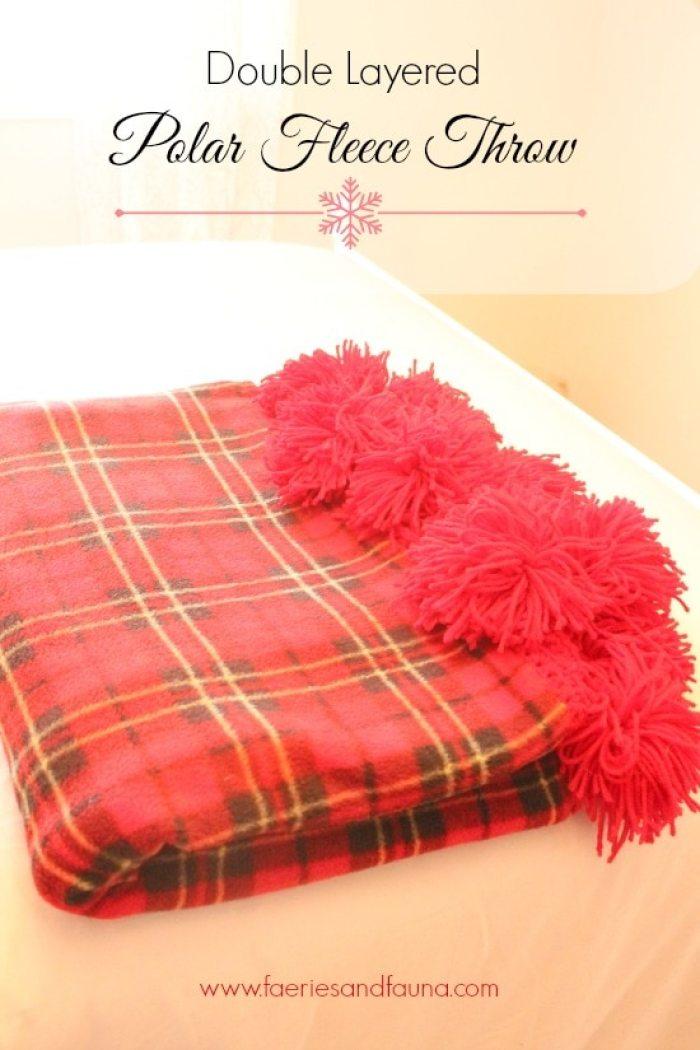 Christmas, tartan, afghan, DIY, Sewing, Crafts