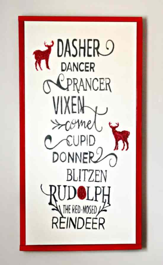 Christmas, DIY, Art, Crafts, Reindeer, Children, Decor