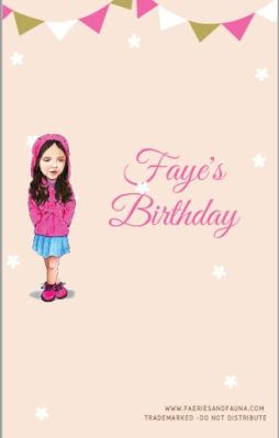 Faye's Birthday Cover Page