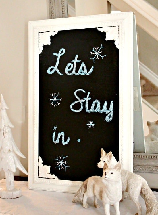 Winter Decor, Chalkboard