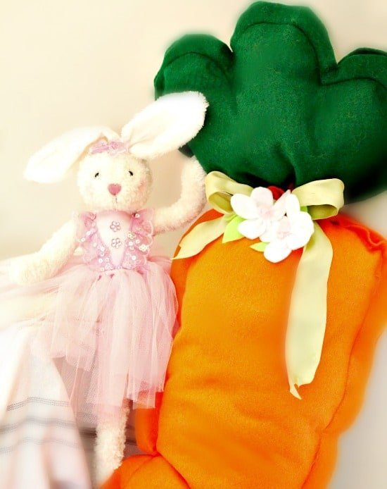 DIY, DIY Crafts, Easter, Giant Carrot Cushion, Children Decor,
