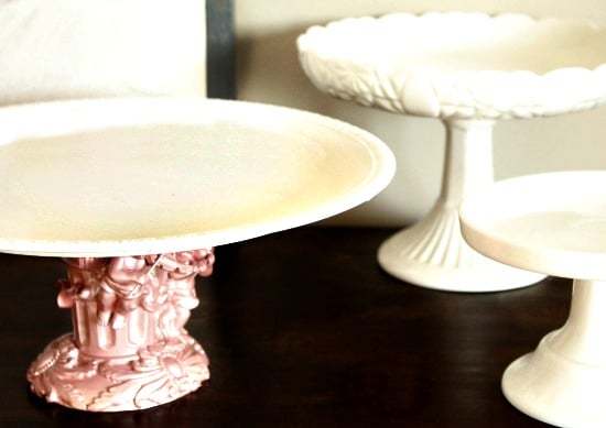 Cake Stand, Table Stand, Refurbish, Painting Spray Paint, DIY, Home Decor, Valentines