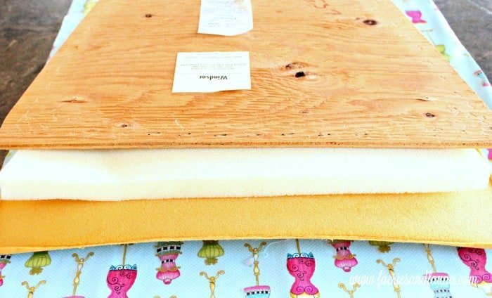 Layers of upholstery necessary for a chair refinishing and upholstery project