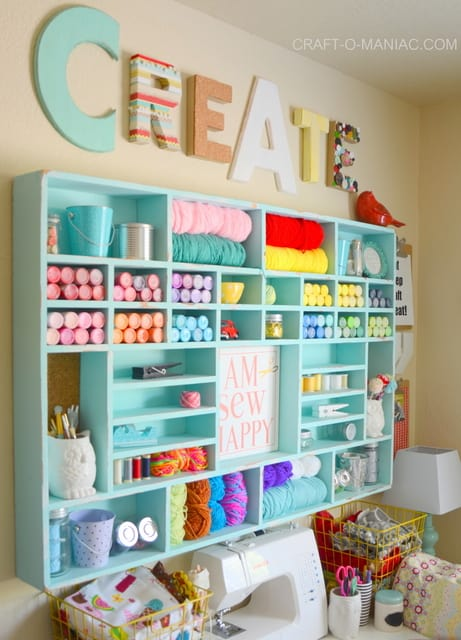 Very Bright And Pretty Storage Shelves For A Craft Room Sewing Room, Or  Hobby Area