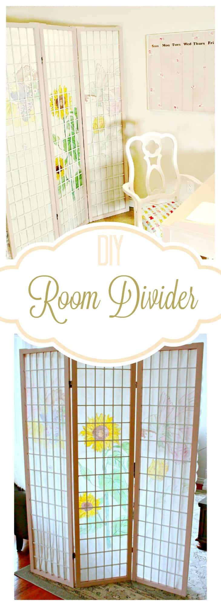 DIY Room Divider Upgrade Of Faeries Fauna Craft Co