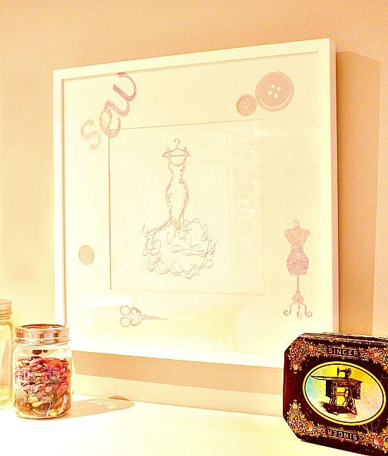 Craft Room, craft room ideas, craft room art, silhouette sketching, silhouette sketching ideas, silhouette project