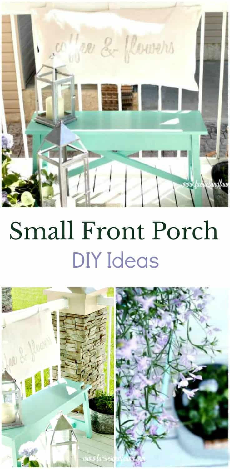 A small seating area for a front porch. porch, small front porch ideas, porch ideas, front porch ideas, front porch, front porch decorating ideas