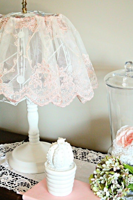 shabby chic lampshade ideas, diy shabby chic lamp, shabby chic, shabby chic lamp
