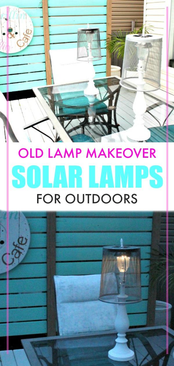 Homemade DIY Outdoor Lighting, DIY Solar Lights, Solar Light Ideas outdoor solar lamps tutorial.