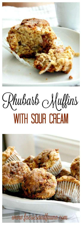 Rhubarb Muffin Recipe, Easy Muffins, Fruit Muffins