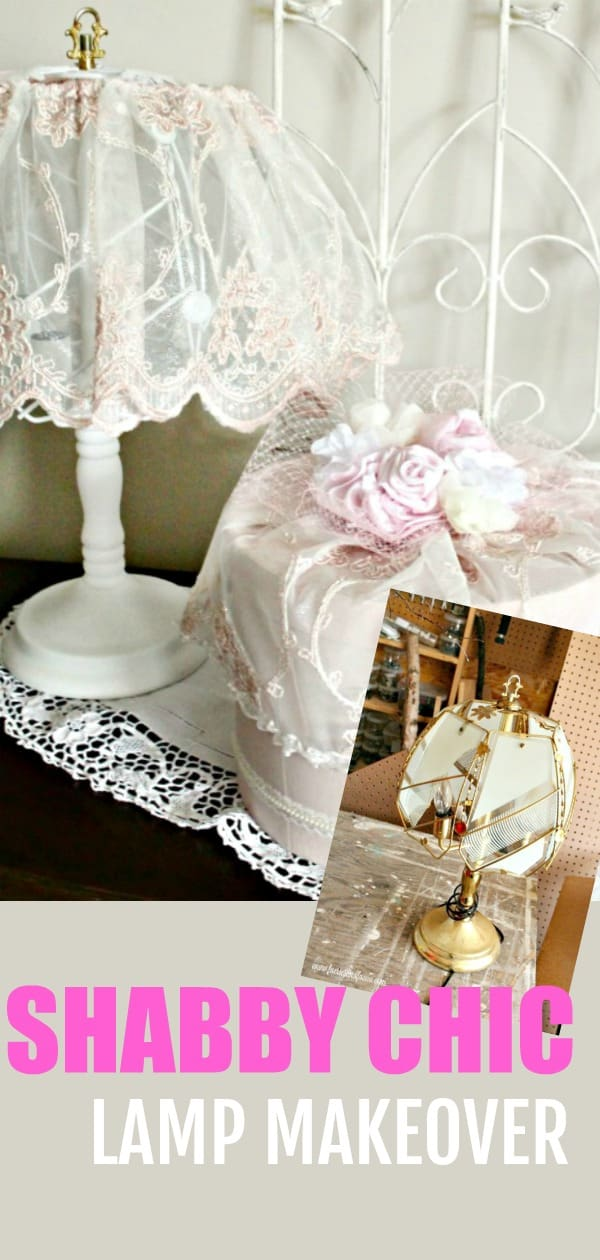 Pink shabby chic lamp makeover. lamp makeover, shabby chic lampshade ideas, diy shabby chic lamp, shabby chic, shabby chic lamp