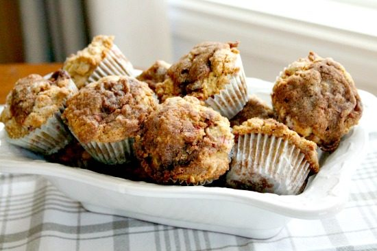 moist rhubarb muffins, easy rhubarb muffins, rhubarb muffin recipe