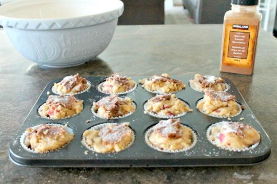 Rhubarb muffin recipe, easy muffin recipe, rhubarb recipe