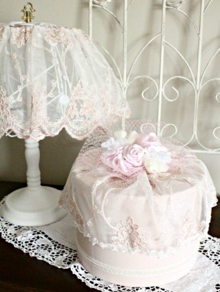 DIY hatbox, hatbox decorating ideas, shabby chic hatbox, vintage hatbox, pink hatbox