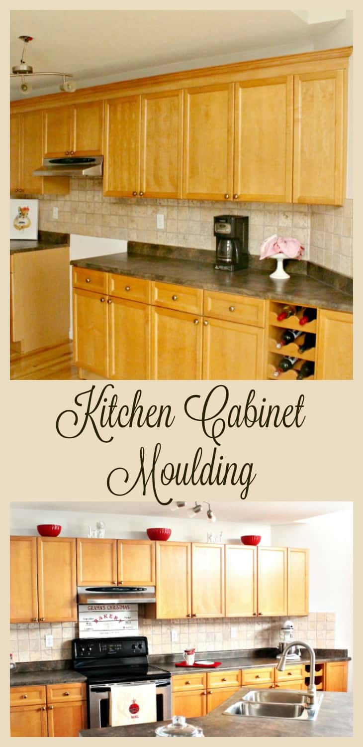 attaching crown moulding kitchen cabinets adding kitchen cabinet moulding to existing cupboards 7520
