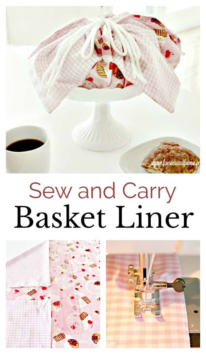 DIY basket liner made from cotton. How to make basket liners, basket liner pattern, easy sewing , sew easy, diy sewing projects