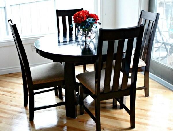 DIY table refinishing,refinish dining table, table refinishing,