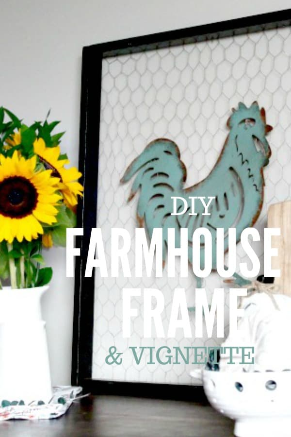 DIY Farmhouse Style Frame Art and Vignette for fall.
