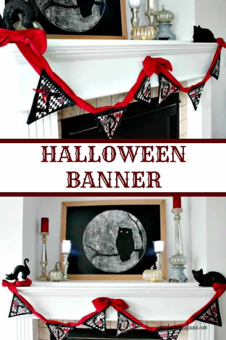 How to make a Halloween banner for Halloween decoration.