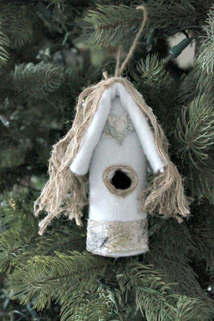 handmade christmas tree ornament of bird houses diy christmas tree ornaments diy ornaments - Bird House Christmas Decoration