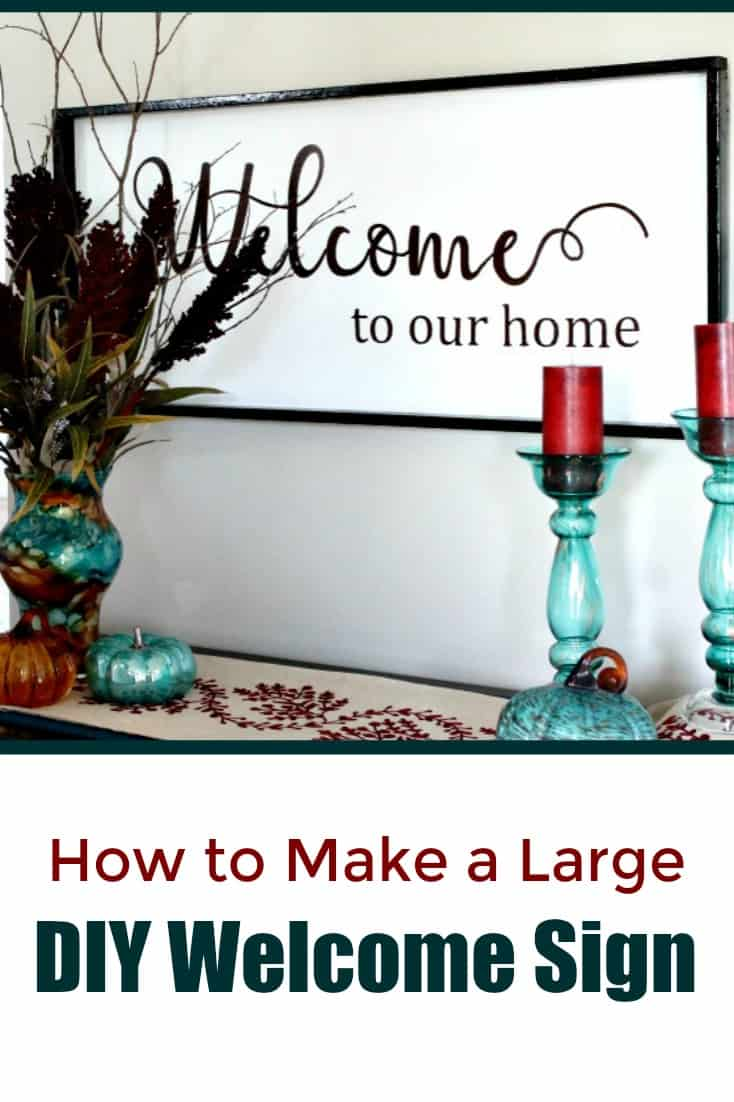 How to make a large welcome sign.