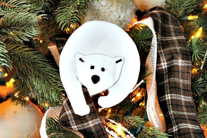 diy polar bear christmas tree ornament diy christmas decorations homemade ornaments homemade christmas - Bear Christmas Decorations