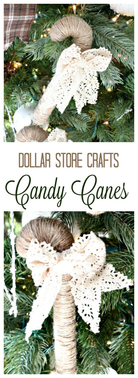 diy ornaments, candy cane crafts, easy candy cane, easy Christmas ornament, home made Christmas decorations