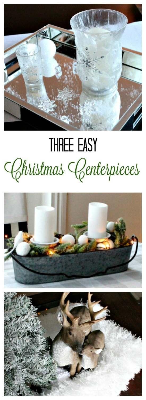 Easy DIY Christmas Centerpieces