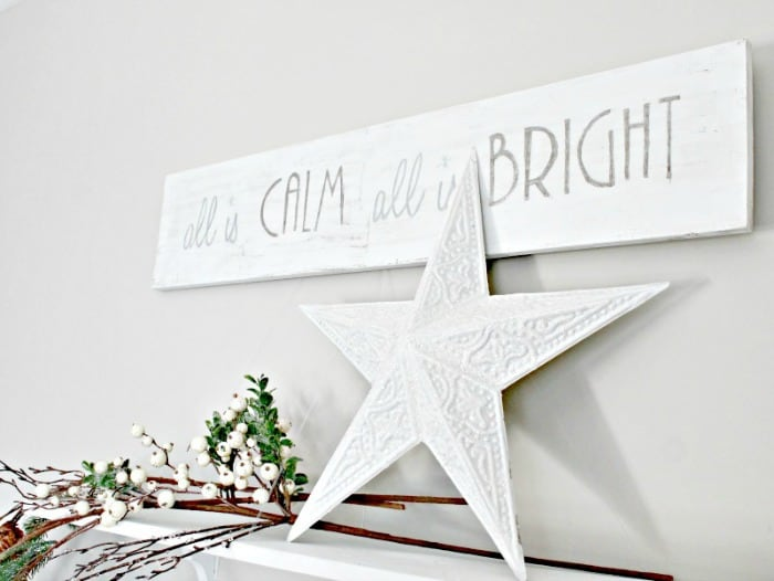All is Calm all is bright all white Christmas sign. DIY Christmas Art, Christmas crafts for adults, Christmas crafts for adults ideas, DIY Christmas Wall art, DIY Christmas Sign, Christmas Crafts, Christmas Craft ideas, Christmas decor ideas, Farmhouse Christmas