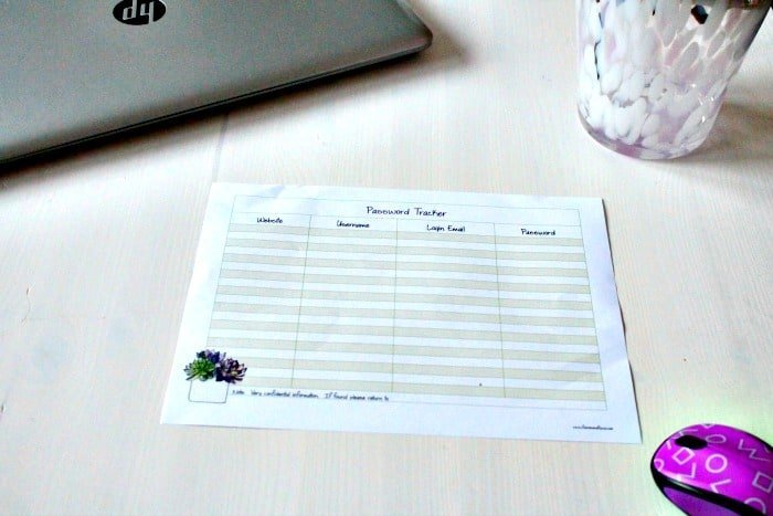 Password Tracking Sheet, Password Tracker, Password Organizer Template, Password Keeper Template, password tracker template.
