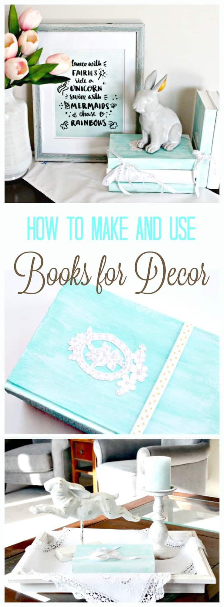 books for decor, using books to decorate, home decor with books, how to decorate with books,