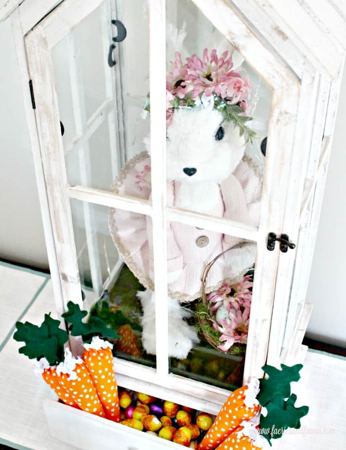 DIY Easter Lantern with Faux Carrots