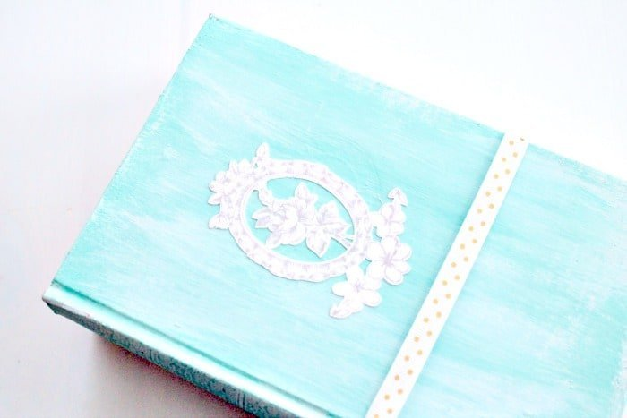 An old encyclopedia upcycled with turquoise chalkpaint for home decor.  books for decor,  using books to decorate, home decor with books,  how to decorate with books,
