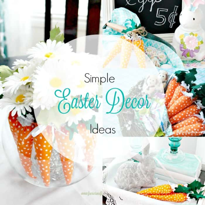 Simple Diy Spring Decor Ideas: Easter Decorating Ideas Using Mini Carrots