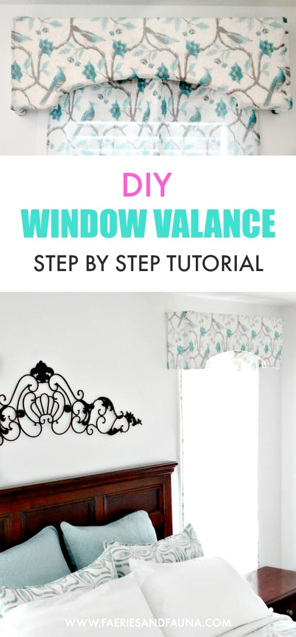 step by step tutorial of a window valance.