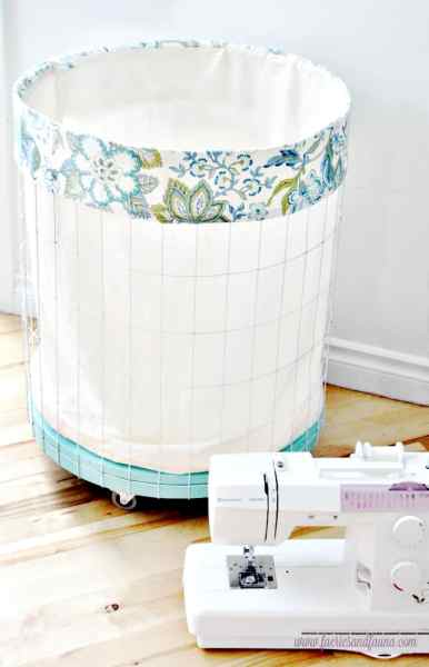 Large DIY Wire Laundry Hamper or Laundry Basket with wheels.