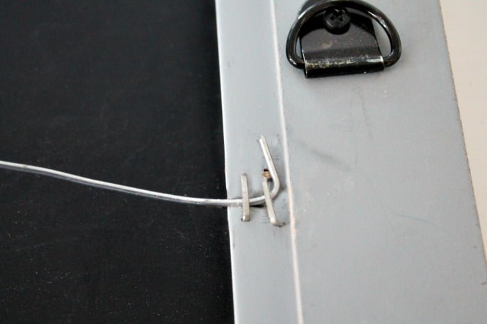 How to attach wire to a DIY Ironing board Holder