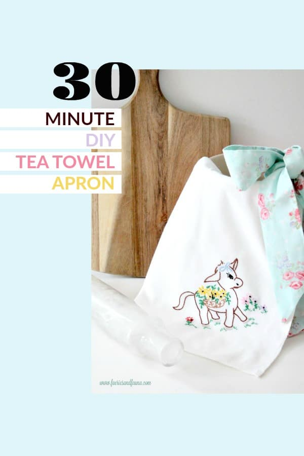 A DIY tea towel sewing project.