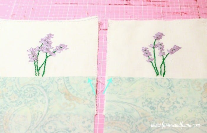 Lining up the blue fabric on matching lavender sachets. sachet, how to make lavender bags, how to make sachets, lavender bags pattern, hand embroidery, hand embroidery patterns, hand embroidery stitches, hand embroidery designs.