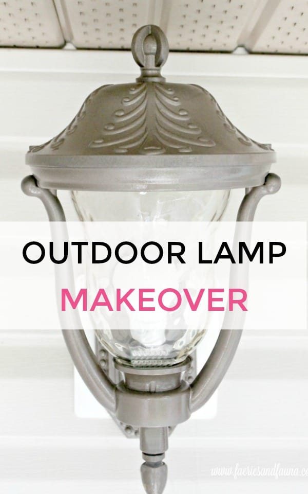 Outdoor lamp makeover final reveal. DIY porch light makeover. spray painting light fixtures spray paint metal lamp, spray painting metal light fixtures, how to paint spray metal