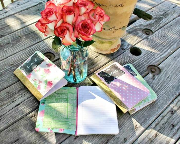 DIY Cottage Chic Journals Feature from Waste Not Wednesday Link Party