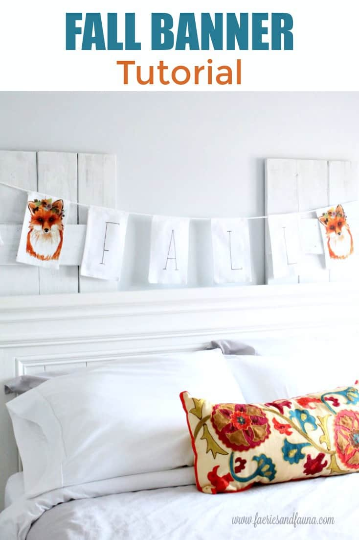 Fall Banner Tutorial with white and orange.