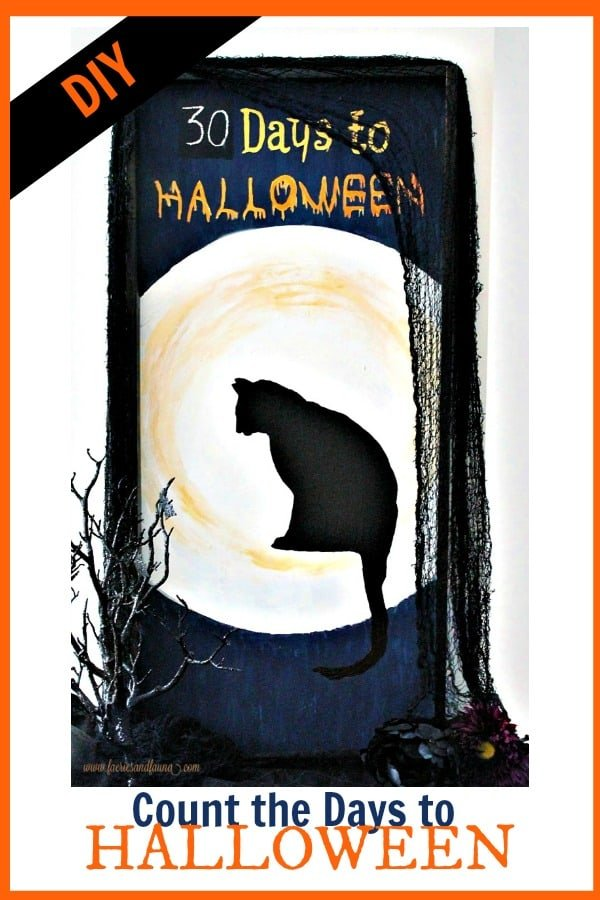 A DIY Halloween Decoration for counting down the days to Halloween.