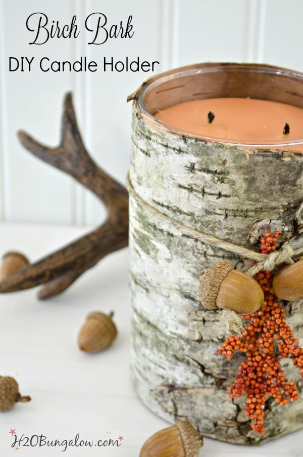 waste not Wednesday feature birch bark candle
