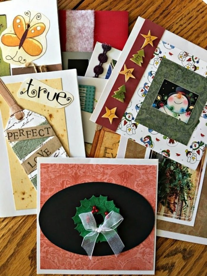 Waste Not Wednesday feature upcycled Calendar Christmas cards