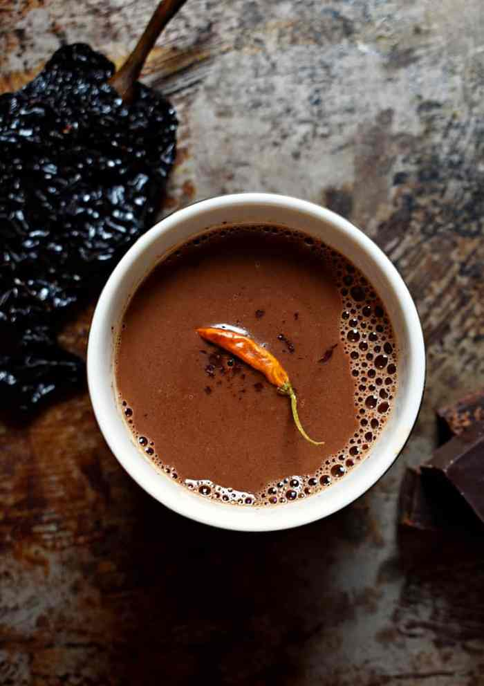Spicy and boozy hot chocolate recipe