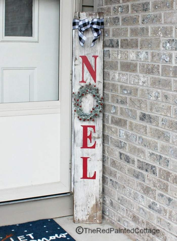 Waste not Wednesday Feature Christmas Sign