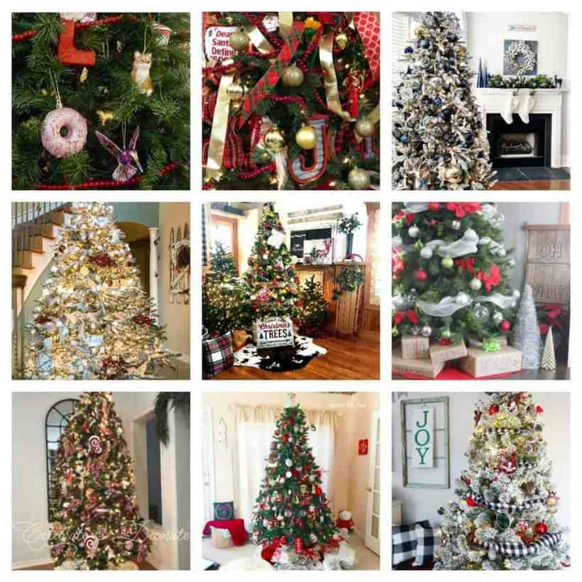 A collection of beautiful Christmas tree ideas.