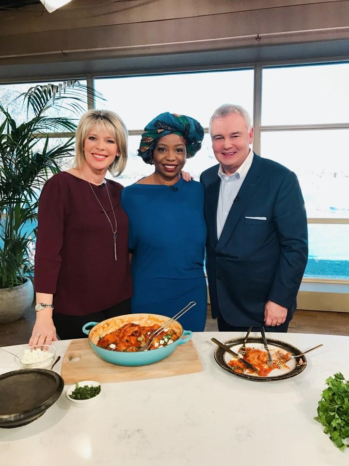 FAFA GILBERT ON ITV, THIS MORNING