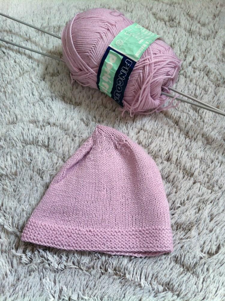 tricoter un bonnet naissance facile